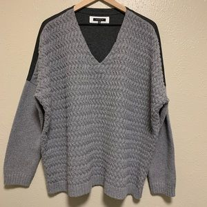 Layafette 148 drop shoulder wool blend sweater